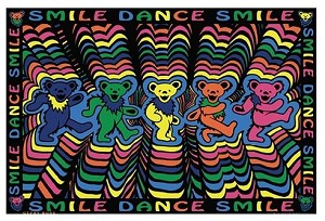 Grateful Dead - Smile Dance Smile Tapestry Wall Hanging