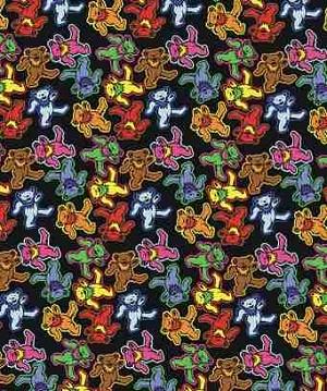 Grateful Dead Dancing Bears Jumble Fleece Throw Blanket