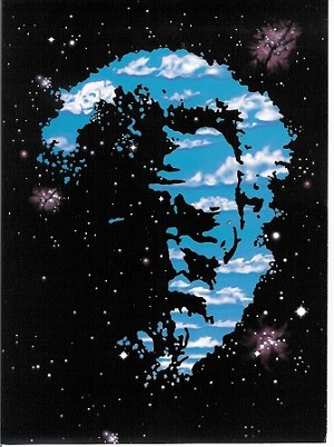 Jerry Garcia - Cosmic Jerry Greeting Card