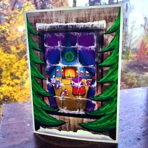 Grateful Dead - Terrapin & Bear Winter Window Card