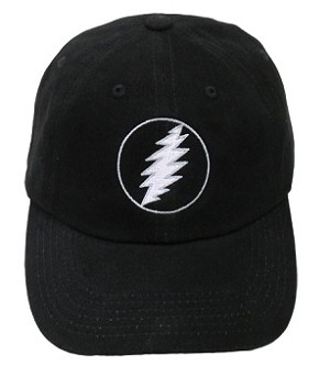 Grateful Dead - Silver Lightning Bolt Hat
