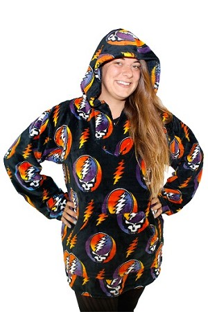 Grateful Dead - Steal Your Face Coral Fleece Baja Hoodie