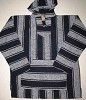Navy Striped Mexican Baja  Hoodie Pullover
