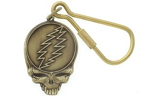 Grateful Dead - Steal Your Face Brass Keychain