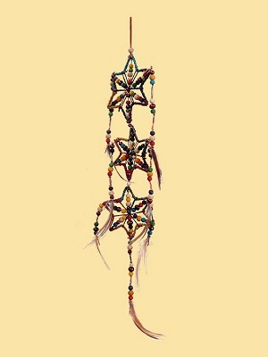 Wood Bead Star Dreamcatcher