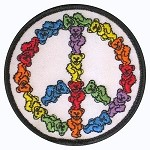 Grateful Dead - Bears Peace Sign Patch