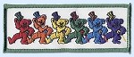 Grateful Dead - Tophat Dancing Bears Patch