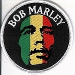 Bob Marley - Tri Color Round Patch
