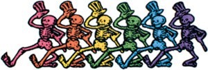Grateful Dead - Small Dancing Skeletons Patch