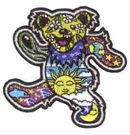 Grateful Dead - Psychedelic Dancing Bear Patch
