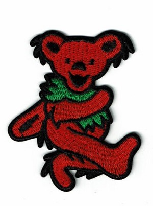 Grateful Dead - Red Dancing Bear Patch