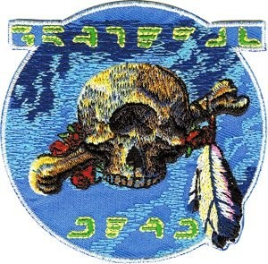 Grateful Dead - Cyclops Skull Feathers Patch