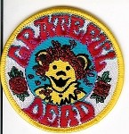 Grateful Dead - Bear and Roses Patch