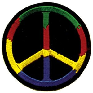 Peace Sign Iron On Patch
