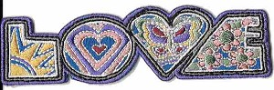 Love Word Celestial Embroidered Patch