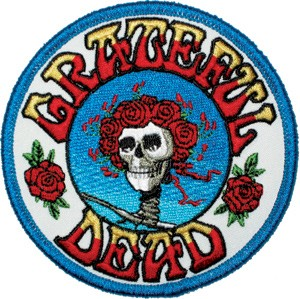 Grateful Dead - Skeleton & Roses Bertha Iron On Patch
