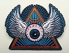 Psychedelic Flying Eye Embroidered Patch