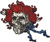 Grateful Dead - Skull and Roses Head Patch