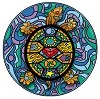 Stained Glass Turtle Embroidered Patch