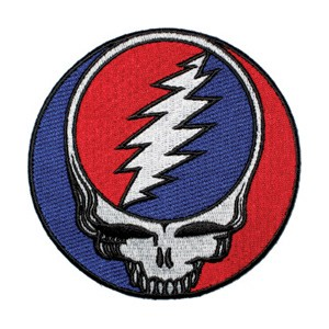 Grateful Dead - Steal Your Face X-Large Iron On Patch