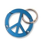 Peace Sign Carabiner Keychain