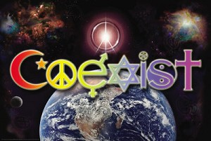 Coexist World Poster