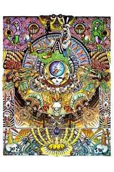 Grateful Dead - Psychedelic Collage Poster