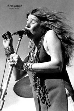 Janis Joplin - Singing On Stage Poster