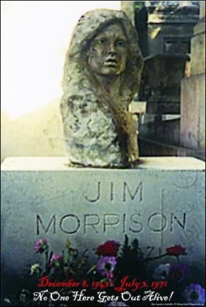 Jim Morrison - Tombstone Poster