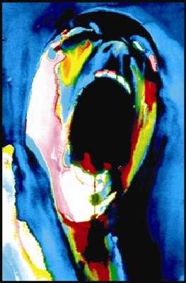 Pink Floyd Screaming Face Blacklight Poster