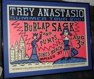 Trey Anastasio - Jones Beach 2001 Tour Poster