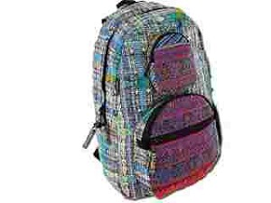 Large Hand Woven Hand Brocaded Backpack