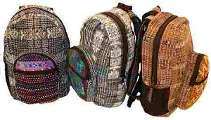 Hand Woven Hand Brocaded Backpack