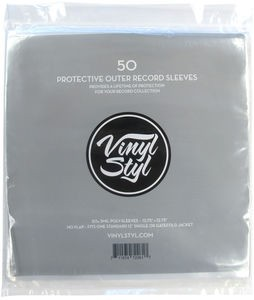 50 Protective Outer Record Sleeves