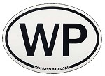 Widespread Panic - White WP Euro Oval Sticker