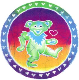 Grateful Dead - Batik Bear  Sticker