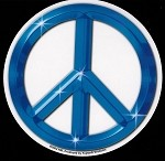 Blue Peace Sign Sticker