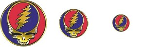 Grateful Dead - Embossed Metal SYF Sticker