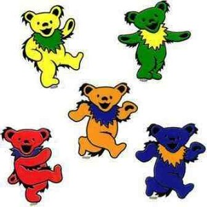 Grateful Dead Mini Dancing Bear Stickers
