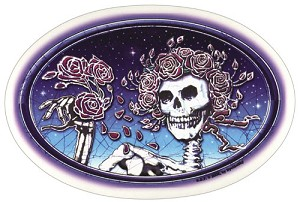 Grateful Dead - Skull and Roses Oval Sticker
