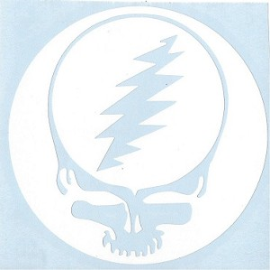 Grateful Dead - Steal Your Face White Rub On Sticker