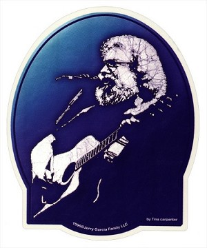 Jerry Garcia -  Acoustic Sticker