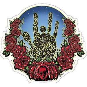 Jerry Garcia - Hand & Roses Sticker
