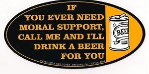 Moral Support Sticker