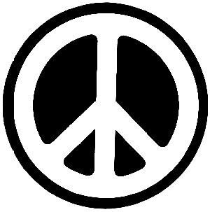 Peace Sign Diecut Rub On Sticker