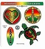 Rasta Designs 4 Sticker Set