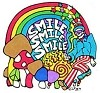 Smile, Smile, Smile Rainbow Shrooms Sticker