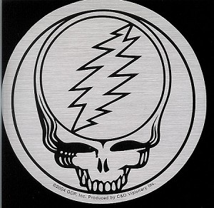 Grateful Dead - SYF Metallic Silver Sticker