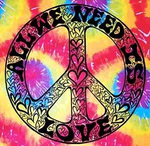 All We Need Is Love Tie Dye Tapestry