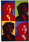 Bob Marley - 4  Faces Tapestry